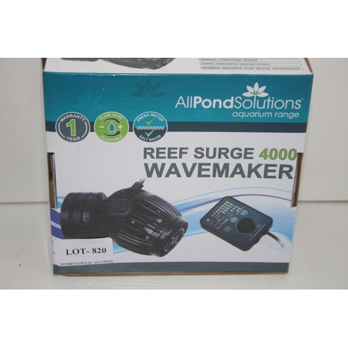 820 - GRADE U- BOXED ALL POND SOLUTIONS REEF SURGE WAVEMAKER 4000 RRP-£49.99...