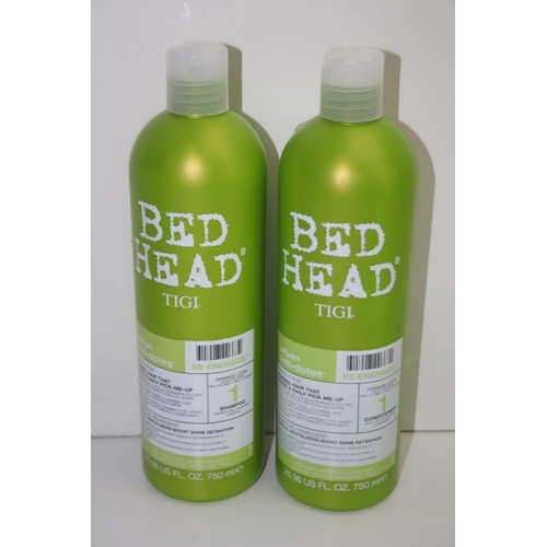 832 - GRADE U- 2X TIGI BED HEAD URBAN ANTI+DOTES RE-ENERGIZE SHAMPOO & CONDITIONER...