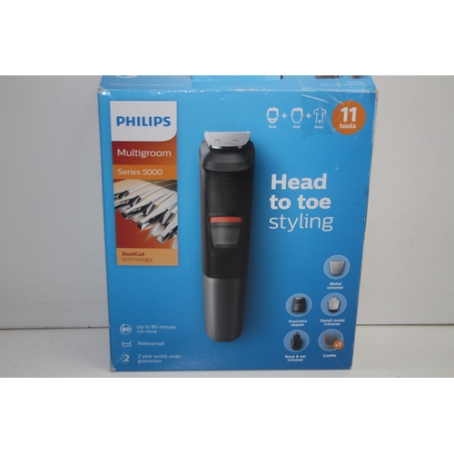 851 - GRADE U- BOXED PHILIPS MULTIGROOM SERIES 5000 DUALCUT MODEL: MG5730 RRP-£45...