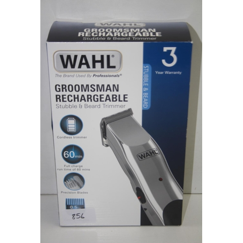 855 - GRADE U- BOXED WAHL GROOMSMAN RECHARGEABLE STUBBLE & BEARD TRIMMER...