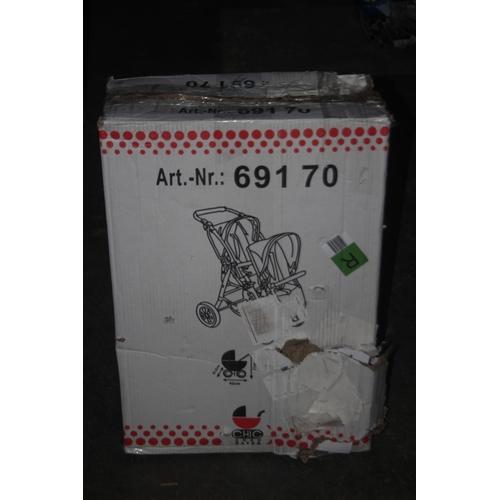 883 - GRADE U- BOXED TOY CHILDS PRAM ART NO. 691 70 RRP-£70...