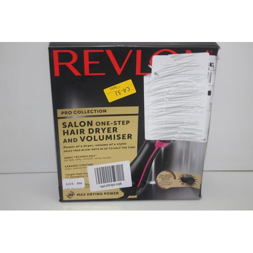 890 - GRADE U- BOXED REVLON PRO COLLECTION SALON ONE-STEP HAIR DRYER AND VOLUMISER RRP-£59.99...