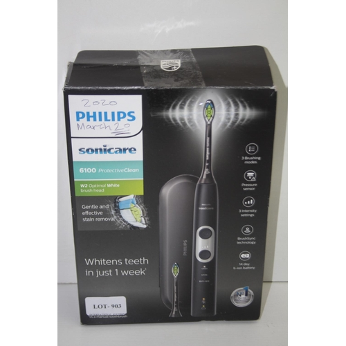 903 - GRADE U- BOXED PHILIPS SONICARE 6100 PROTECTIVE CLEAN SONIC TOOTHBRUSH MODEL: HX6870 RRP-£105...