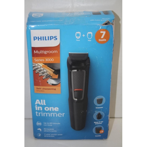 924 - GRADE U- BOXED PHILIPS MULTIGROOM SERIES 3000 ALL IN ONE TRIMMER...