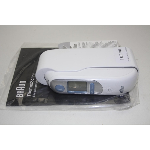 941 - GRADE U- UNBOXED BRAUN THERMOSCAN THERMOMETER...