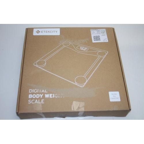 947 - GRADE U- BOXED ETEKCITY DIGITAL BODY WEIGHT SCALE MODEL: NO. EB4074C RRP-£20...
