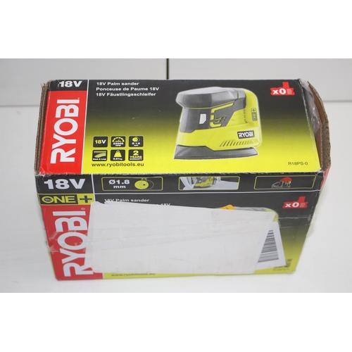 2 - GRADE B-  BOXED RYOBI 18V ONE+ PALM SANDER MODEL: R18PS-0