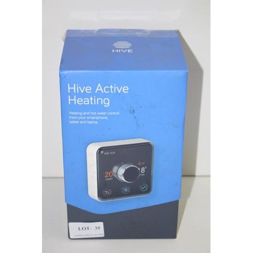 35 - GRADE B-  BOXED HIVE ACTIVE HEATING - THERMOSTAT/RECIEVER/HUB RRP-£139