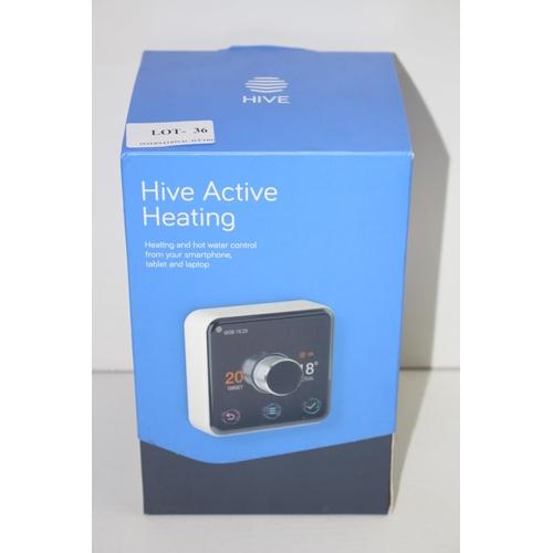 36 - GRADE B-  BOXED HIVE ACTIVE HEATING - THERMOSTAT/RECIEVER/HUB RRP-£139