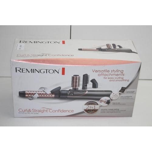 44 - GRADE B-  BOXED REMINGTON CURL & STRAIGHT CONFIDENCEROTATING HOT AIR STYLER RRP-£49