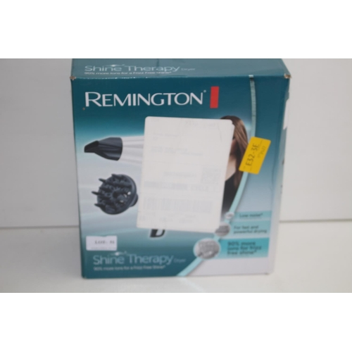 51 - GRADE B-  BOXED REMINGTON SHINE THERAPY DRYER