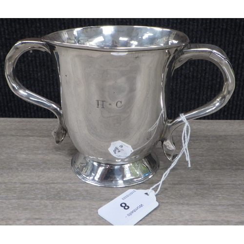 8 - A George III silver loving cup,