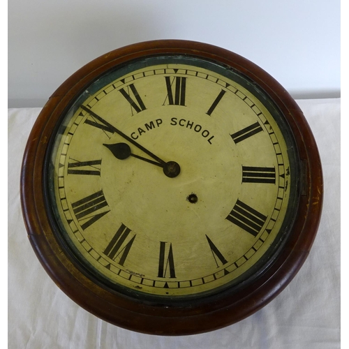 1 - A Victorian mahogany cased wall clock