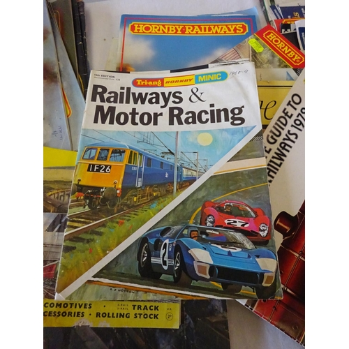 21 - A quantity of various train catalogues etc.