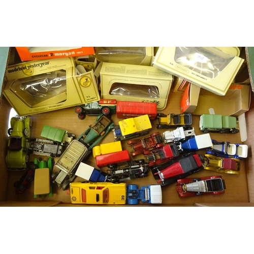 25 - A quantity of misc die-cast vehicles to include Matchbox, Corgi, Burago etc.  af play worn.
