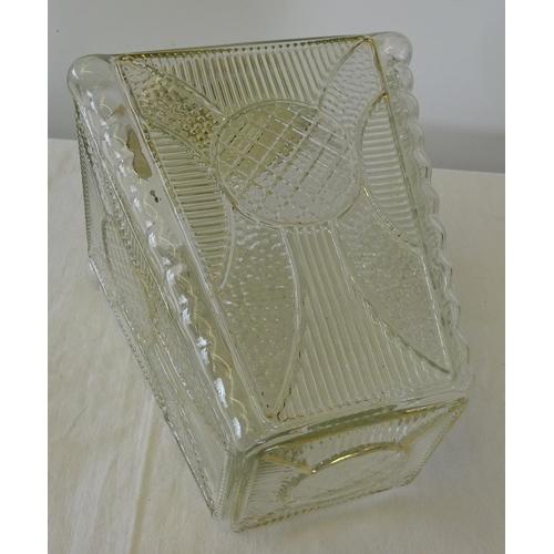 31 - A mid century pressed glass lantern 30cm tall.