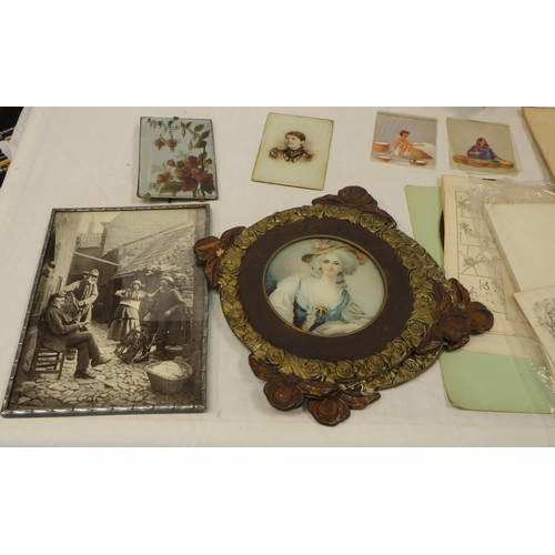 11 - A quantity of various pictures, prints and ephemera (2).