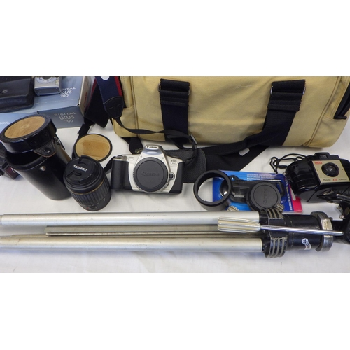 13 - Various Cameras to include lenses etc including Cannon EOS 300.