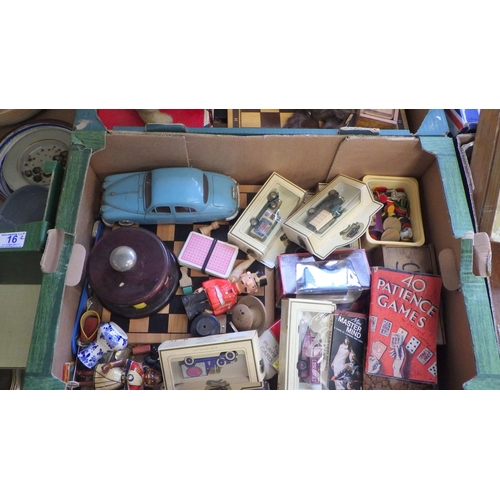 15 - Two boxes of misc games and toys (2).