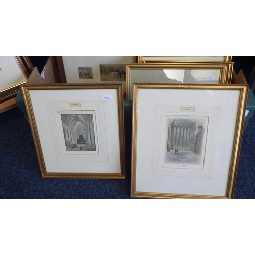 38 - A large quantity of prints and pictures together with a small easel, some York Interest (qty).