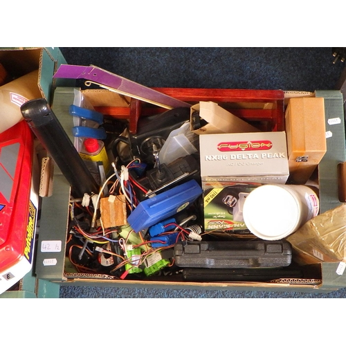 42 - A quantity of remote control related parts etc (2).