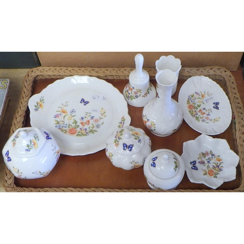 47 - A group of Aynsley Cottage Garden ceramics together with two boxes of misc plates, dinner ware etc (...