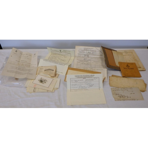 55 - A quantity of various certificates, Royal Air Force service release book, misc ephemera.