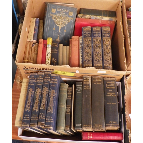 60 - Three boxes of misc books to include Cassell's romance of famous lives, Old and new London etc (3)