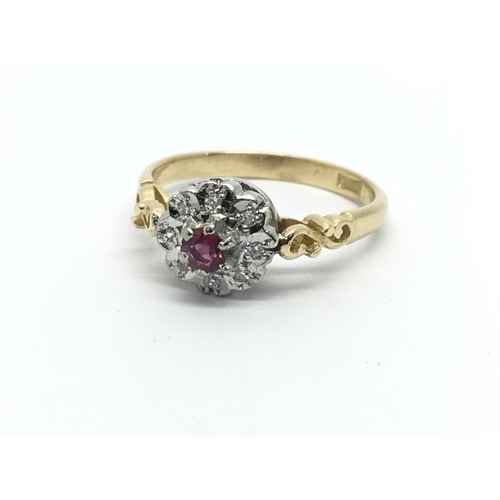 31 - An 18ct gold ruby solitaire ring, approx 2.7g and approx size L-M....