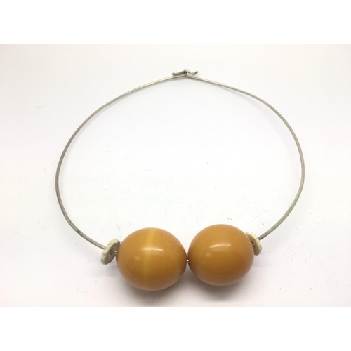 51 - A collection of costume jewellery earrings and a modernist silver and amber necklace - NO RESERVE...