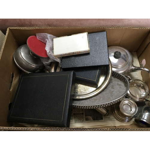 59 - A silver plated tea set and plated ware various - NO RESERVE...