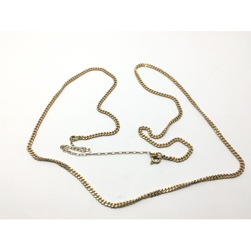 50 - A 9ct gold necklace, approx 9.2g....
