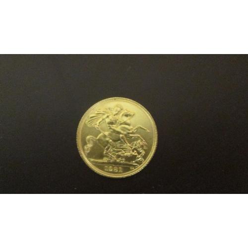 18 - 1981 Full gold sovereign...