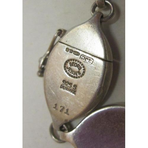 56 - Georg Jensen silver bracelet 43 g...