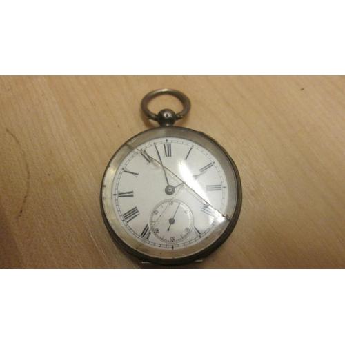6 - Silver case pocket watch...