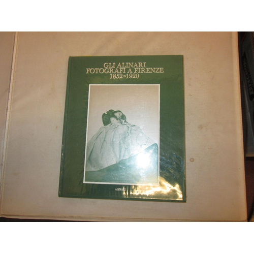 45 - Hardback bound in green cloth with white lettering on F/ board & spine : Glialinar Fotografi A Firen...