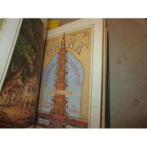 55 - Hardback bound in green cloth with gold flower emblem on F board, black lettering on spine : China H...