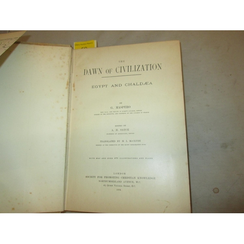 59 - Hardback bound in beige cloth with emblem lettered text on f/ board gold lettering on spine : The Da...