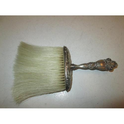 12 - Silver crumb brush with cherub decoration Birm. Levi & Salaman 1898...
