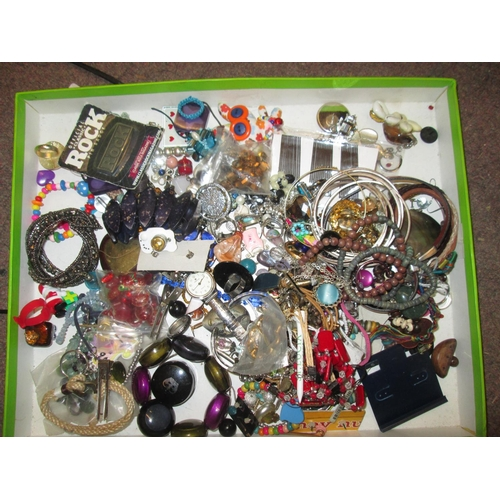 51 - Bag of costume jewellery...