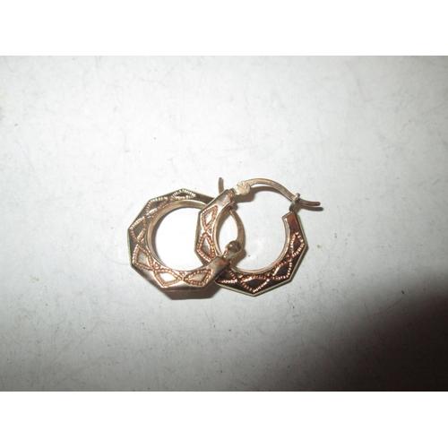 58 - Pair of 9 ct gold hoop earrings 0.9 g...