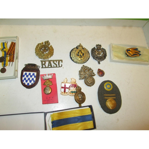 15 - Collection of assorted military interest cap badges : ACC, RASC, RE, RCE etc....