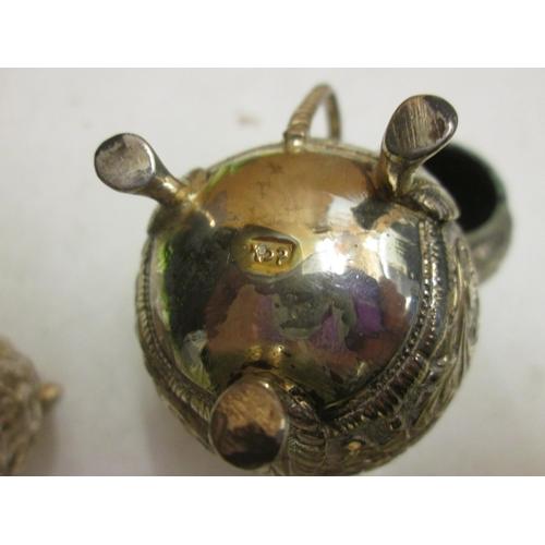 84 - Indian silver metal four piece cruet set 163 g...