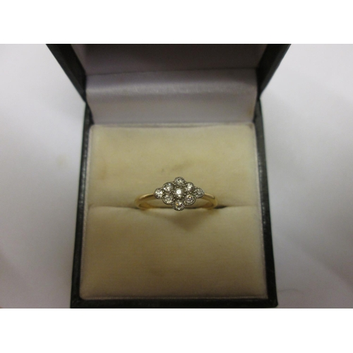 94 - 18 ct gold ring set with diamonds size 52, 1.7 g...