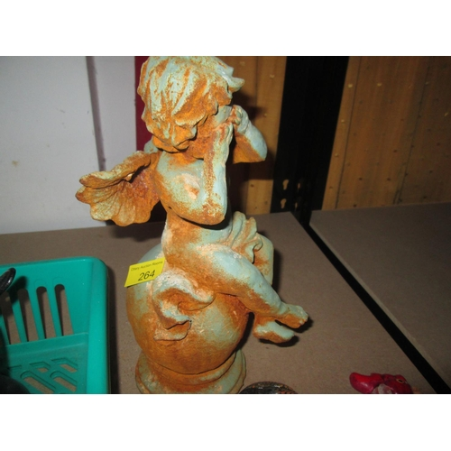 185 - Patinated metal Fairy ornament...