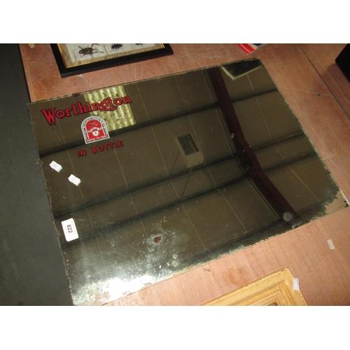 202 - Vintage Worthington pub mirror...