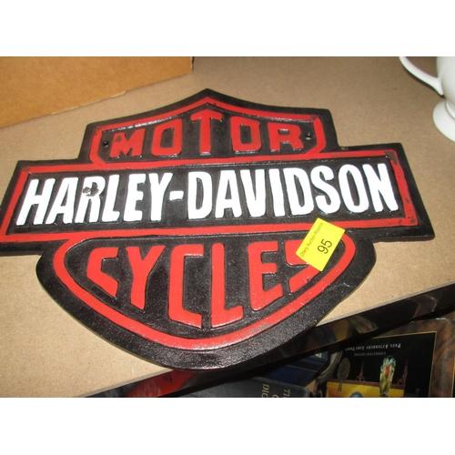 206 - Cast iron sign : Harley Davidson...