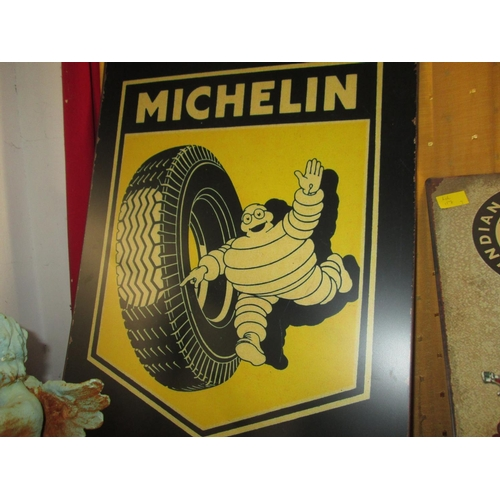 186 - Painted metal advertising sign : Michelin Tyres...