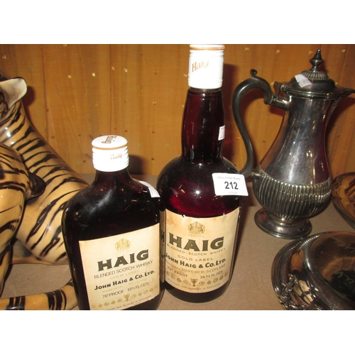 212 - Haig Gold Label 26 2/3 & Haig 13 1/3 fl oz Blended Whisky...