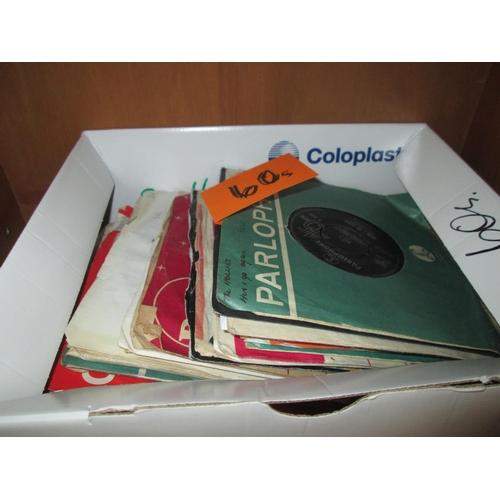 298 - Box of various 45 singles records 1960's pop predominate...